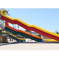 Buy cheap Combo Size PVC Blow Up Single Lane Water Slide Colorful Tube Handrails from wholesalers
