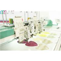 2 Heads Mixed Coiling / Taping And Flat Embroidery Machine , 6 Needles Manufactures