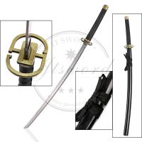 Buy cheap Black Japanese Anime Greatsword , Bleach Ichimaru Gin Shinsou Samurai Sword from wholesalers