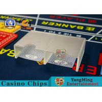 China Niu Niu Gambling Table Cards Holder Cover Frost Custom Discard Dealer Accessories on sale