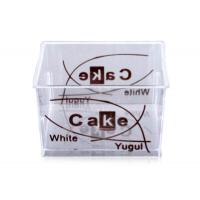 Buy cheap Clear Food Grade Square Personalized Disposable Cups of Plastic PS from wholesalers