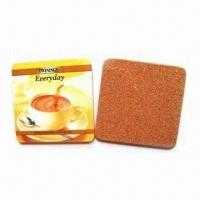 Buy cheap Coasters/Rubber Pads, Made of Soft PVC Material, Customized Sizes and Designs product