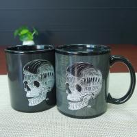 Buy cheap Cool Birthday Gift Black Skull Coffee Mugs Change Color Heat Custom from wholesalers