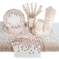 Buy cheap 50 Pcs   Rose Gold Party Elegant Eco Friendly Disposable Tableware from wholesalers