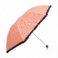 Buy cheap 5-fold Umbrella with PG Fabric and Plastic Handle from wholesalers