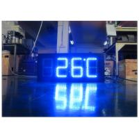 Buy cheap Double Sides Blue Gas Station LED Signs IR 10M RF 100M With Poos , LED Temperature Display from wholesalers