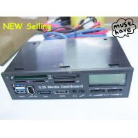 Buy cheap 5.25 USB 2.0 & 3.0 internal card reader multi function LCD Media Dashboard Front Panel from wholesalers