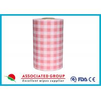 Plaid Pattern Spunlace Nonwoven Wipe Rolls In different Color, Breakpoint Available Manufactures