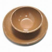 Buy cheap Eco-friendly Bamboo Laminated Dish and Bowl Set, OEM Orders are Welcome from wholesalers