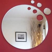 Buy cheap Laser Cutting Round Mirror Acrylic Sheet For Wall Decoration With Home Decoration from wholesalers