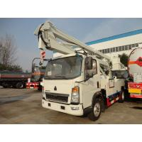 Buy cheap LHD / RHD Truck Mounted Access Platforms , Arm Lift Aerial Bucket Truck 16m Height from wholesalers