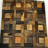 Buy cheap Handmade Reclaimed Wood Wall Panels Natural Pattern For Coffee Shop / Bar from wholesalers