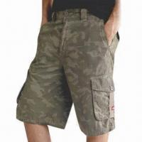 Buy cheap Men's Cargo Shorts, Made of 100% Cotton, Customized Designs or Sketches are Accepted from wholesalers