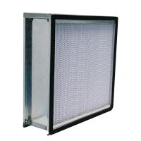 Buy cheap 24x24x12 Deep Pleat HEPA Air Filter Galvanized Steel Frame With Flange from wholesalers