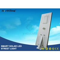 China 8000LM Wireless All In One Pole Solar Powered Road Lights With Bridgelux LED Chips on sale