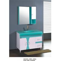 Buy cheap Glass basin Beautiful bathroom vanity sink cabinets , soft closer 24 inch white bathroom vanity from wholesalers