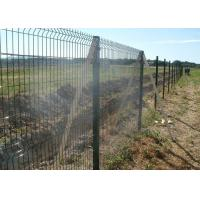 China Square Post Powder Coating RAL6005 Welded Mesh Fencing With 50x200mm Mesh on sale