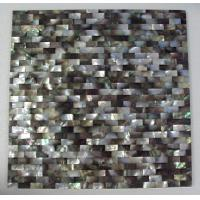 Buy cheap Black mother of pearl shell tile for interior from wholesalers