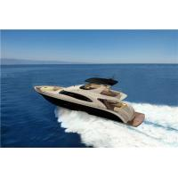Buy cheap High End Leisure Speed Luxury Motor Yachts 82 Feet White And Red Color product