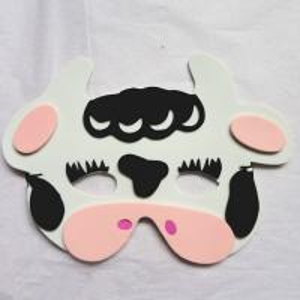 Halloween Christmas Children Cartoon EVA Forest Animal Cows Mask Manufactures