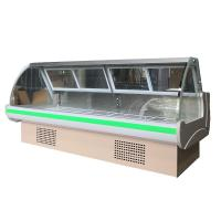 Buy cheap Refrigerated Cold Deli Showcase Cooler 2.5m Static Cooling With Front Fixed Glass from wholesalers