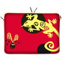 Wholesale Dual Zip Personalized Neoprene Laptop Sleeve Red for Teenager , Designer OEM from china suppliers