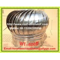 600mm roof turbo ventilator for warehouse stainless steel Manufactures