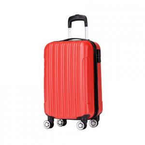 Wholesale ABS TSA Lock Red ODM 190D 4 Wheel Trolley Luggage from china suppliers