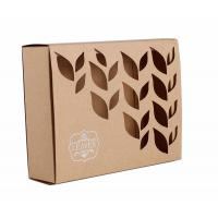 Buy cheap Carved Window Shell Wrapping Paper Box Slide Brown Kraft Paper Box For Cosmetics from wholesalers