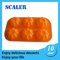 Buy cheap Silicone Bakeware Set SIL 6 hole flower cake mould silicone orange cake mould 27*16*3cm for baking from wholesalers