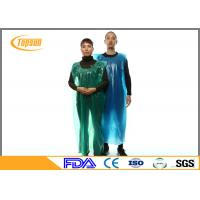 Buy cheap Blue Disposable Plastic Kitchen Aprons PE Gown / PE Disposable Smocks from wholesalers