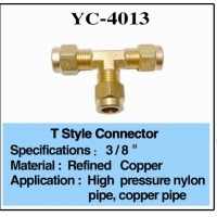 Buy cheap Mist Water Feature Fittings 1/4 Brass T Connector from wholesalers