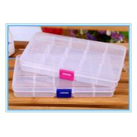 Buy cheap 15 grid storage box removable inserts transparent storage box, plastic box, beaded box from wholesalers