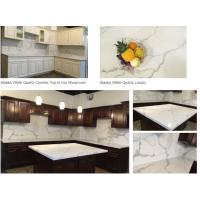 Buy cheap Calacatta gold white quartz kitchen Countertops from wholesalers