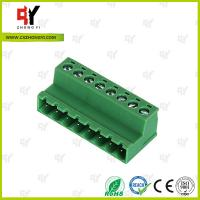 China PA66 and Copper Connector Terminal Block HQ2TBKR 5.0 / 5.08 Spacing on sale