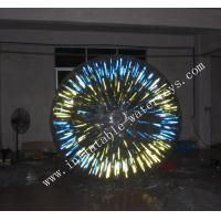 Green color Giant Inflatable Zorb Ball 1.0 MM PVC material for Entertainment Manufactures