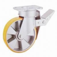 Wholesale Braked Swivel Caster Wheel with Polyurethance Wheels and Aluminum Core from china suppliers