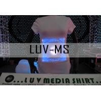 Buy cheap LUV -MS Custom led light t-shirts, fashion led t shirt customized from wholesalers