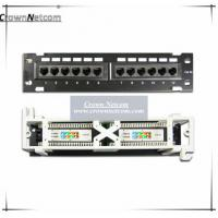 Buy cheap Network 10 inch mini patch panel Cat5e 12ports patch panel wall mount & rack mount Fluke-Pass Category 5e Patch Panels from wholesalers