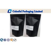 Matte Balck Printing Plastic Stand Up Pouch , Customized Tea Coffee Pouch Manufactures