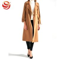 Buy cheap Slim Fit Women's Casual Winter Coats , Camel Wool Jacket For Ladies from wholesalers