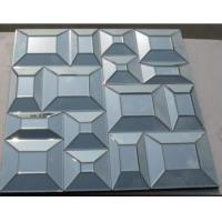 Buy cheap Square Bevelling Decorative Glass Mirrors , Silver Antique Art Mirror For Hotel from wholesalers