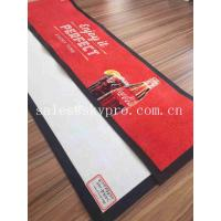 Buy cheap Thin No - woven Slip Wine PVC Rubber Bar Mat Custom Brand Logo Beer Drain Mats Decanters Accessories from wholesalers