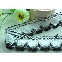 Buy cheap black/white cotton braid lace fabric trim sewing DIY dress cloth L39 from wholesalers