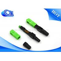 Buy cheap Insertion loss 0.3dB sc fast connector fiber optic quick connector from wholesalers