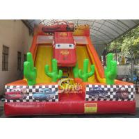 Buy cheap 6m high kids extreme speed race inflatable car slide for kids outdoor entertainm from wholesalers