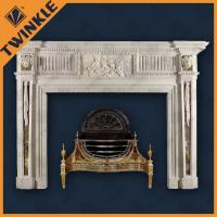 Buy cheap Stone Carved Marble Indoor Fireplace Mantel Elegant For Decoration from wholesalers