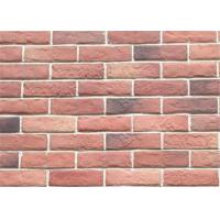 Decorative Interior Thin Brick Panels / Wall  Building Materials With Turned Color 210*55 Manufactures