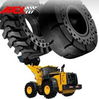 Buy cheap APEX 23.5-25 Solid Tire, Cushion Tyre for Wheel Loader, Integrated Tool Carrier, Elevating Motor Scraper from wholesalers