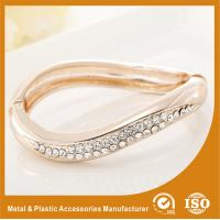 Wholesale Small Rhinestone Solid Silver Metal Bangles For Girls Jewellery from china suppliers